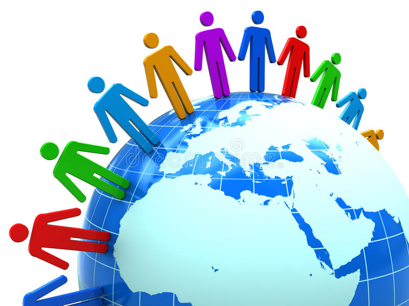ludzie jedność ilustracja wektor