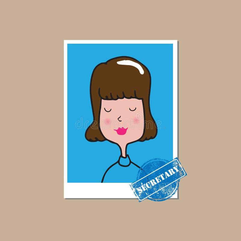 Ludzie kobiety sekretarki royalty ilustracja