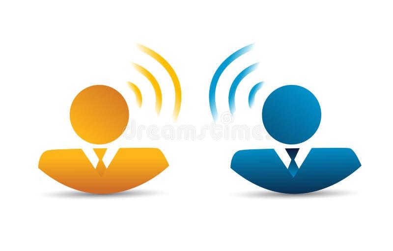 Ludzie komunikacyjnego podłączeniowego pojęcia ilustracji