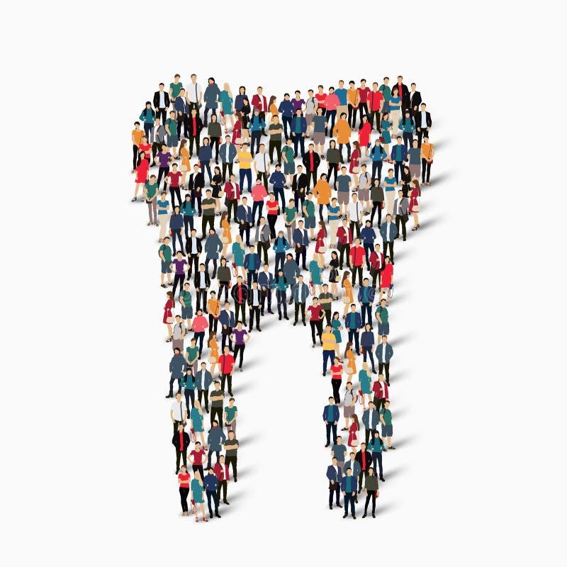 Ludzie kształta zębu stomatologicznego obraz royalty free