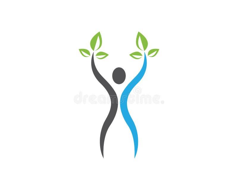 Ludzie liść natury sukcesu zdrowie życia loga szablonu ikon ilustracji