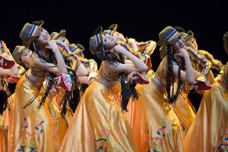 ludzie ludowi chińskiego taniec fotografia stock
