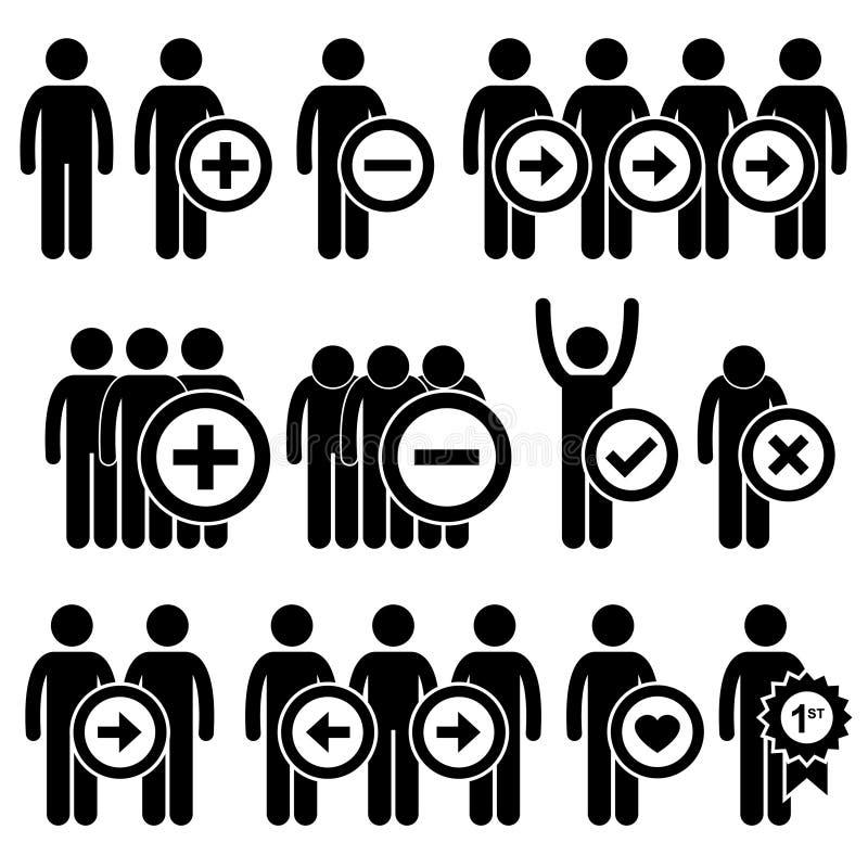 Ludzie mężczyzna działu zasobów ludzkich kija Biznesowej postaci Pi ilustracji