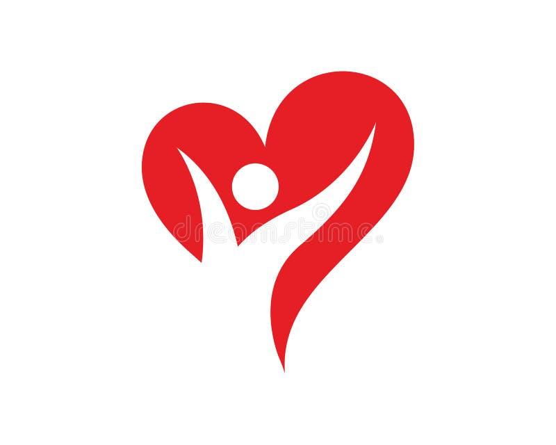 Ludzie miłość loga szablonu projekta wektoru, emblemat, projekta pojęcie, Kreatywnie symbol, ikona ilustracji