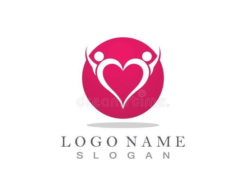 Ludzie miłość logo i symbolu szablonu ikona ilustracji