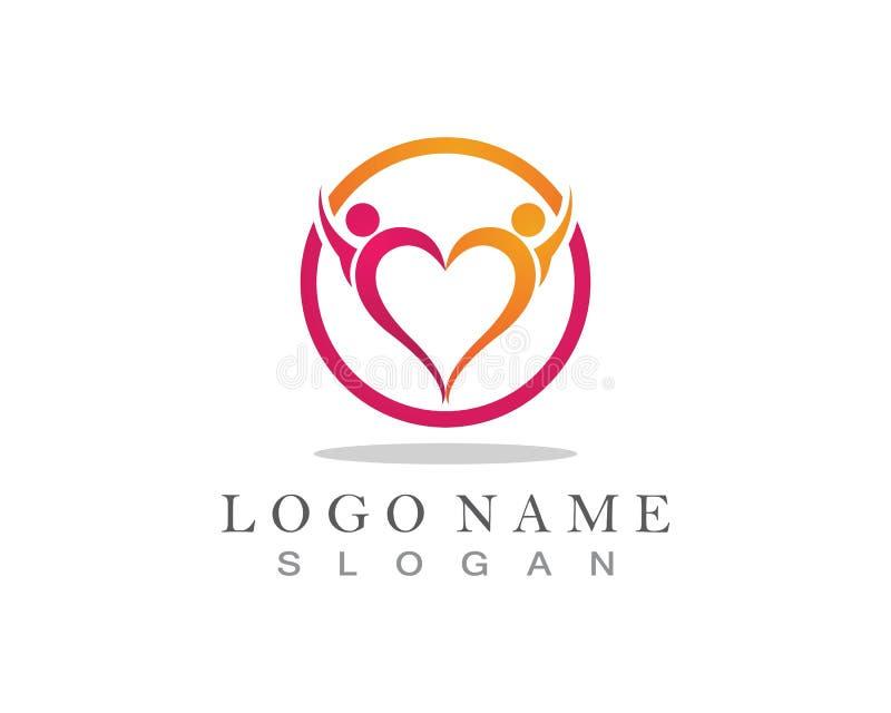 Ludzie mi?o?? logo i symbolu szablonu ikona royalty ilustracja