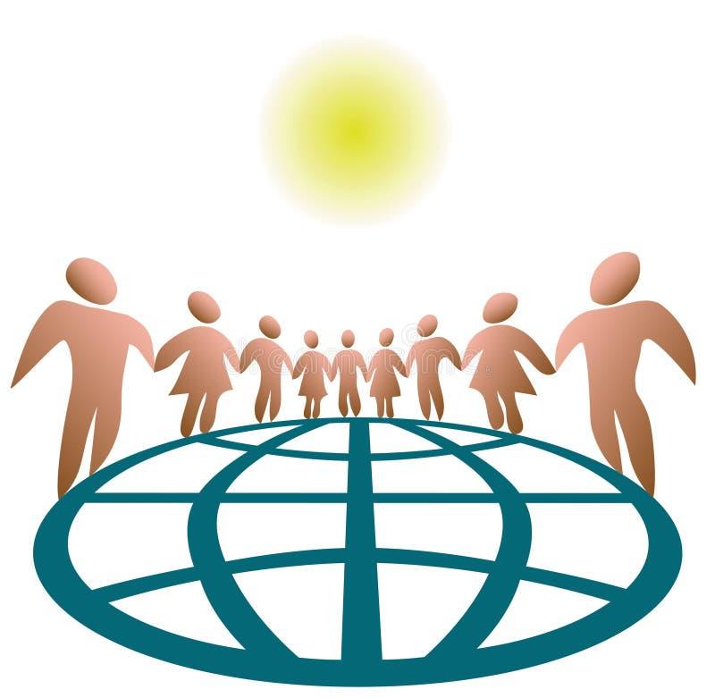 ludzie na całym świecie połączone