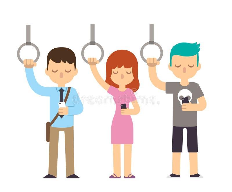 Ludzie na metrze ilustracja wektor
