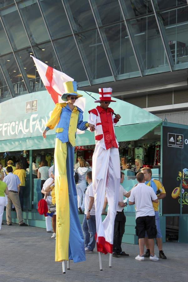 Ludzie Na Stilts Zdjęcie Editorial