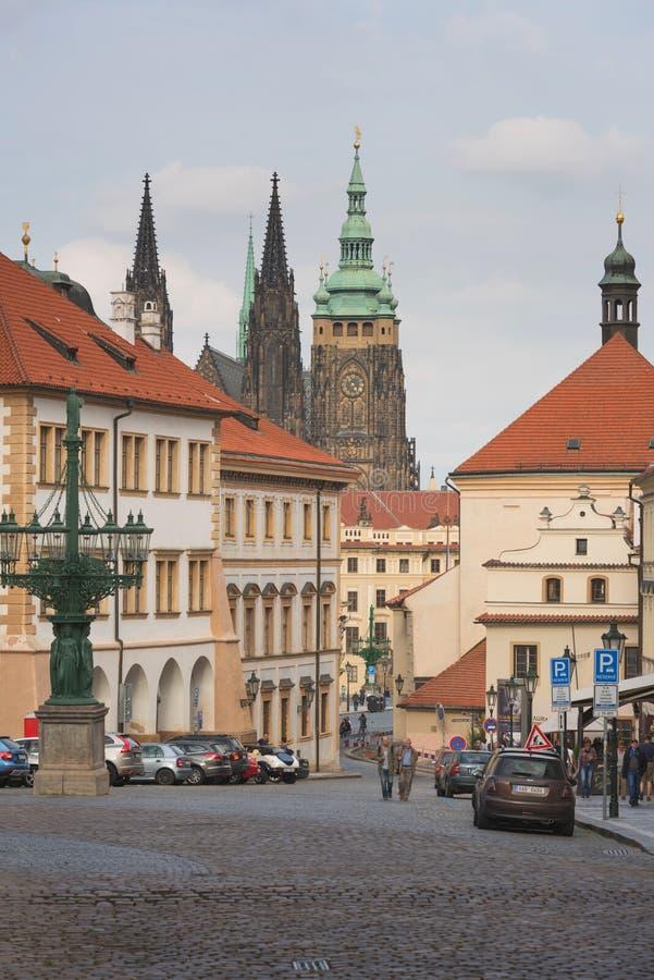 Ludzie na ulicach Praga, republika czech zdjęcia royalty free