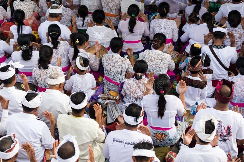 Ludzie ono modli się przy ceremonią fotografia royalty free
