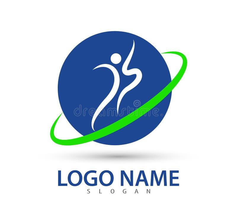 Ludzie opieka sukcesu zdrowie życia logo szablonu ikony społeczności wektorowych ludzi dbają logo, rodzinnego opieki miłości logo royalty ilustracja