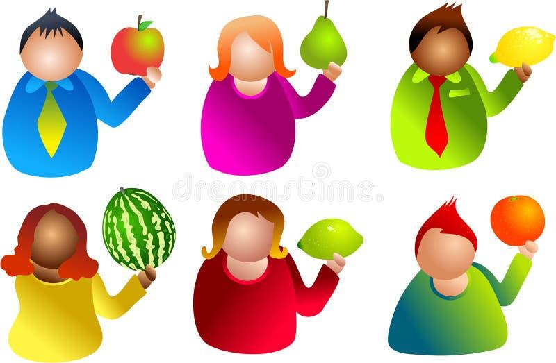ludzie owocowe ilustracja wektor