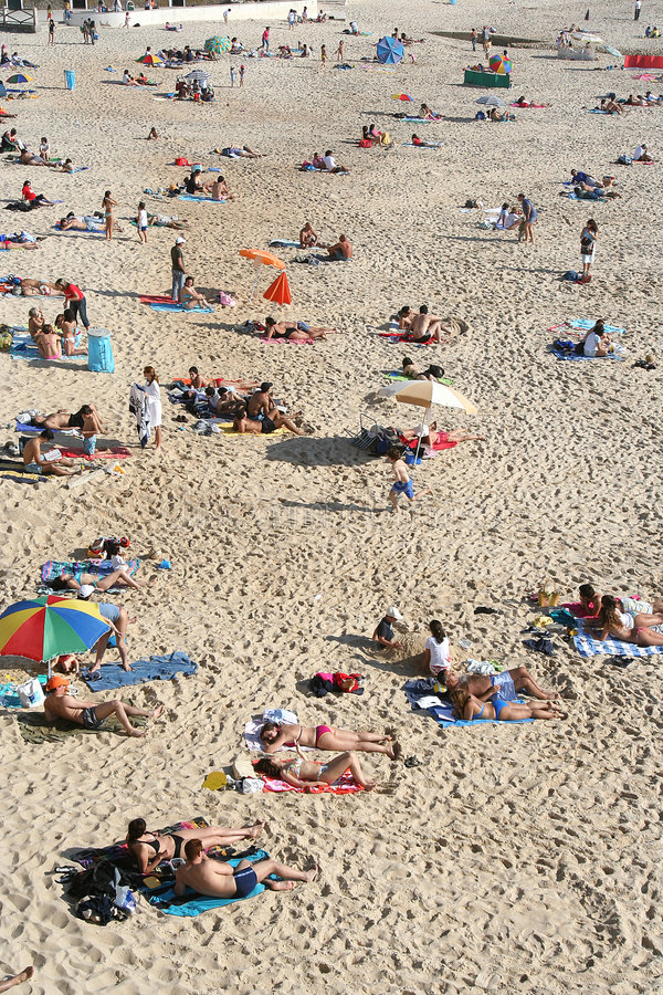 ludzie plażowi obrazy stock