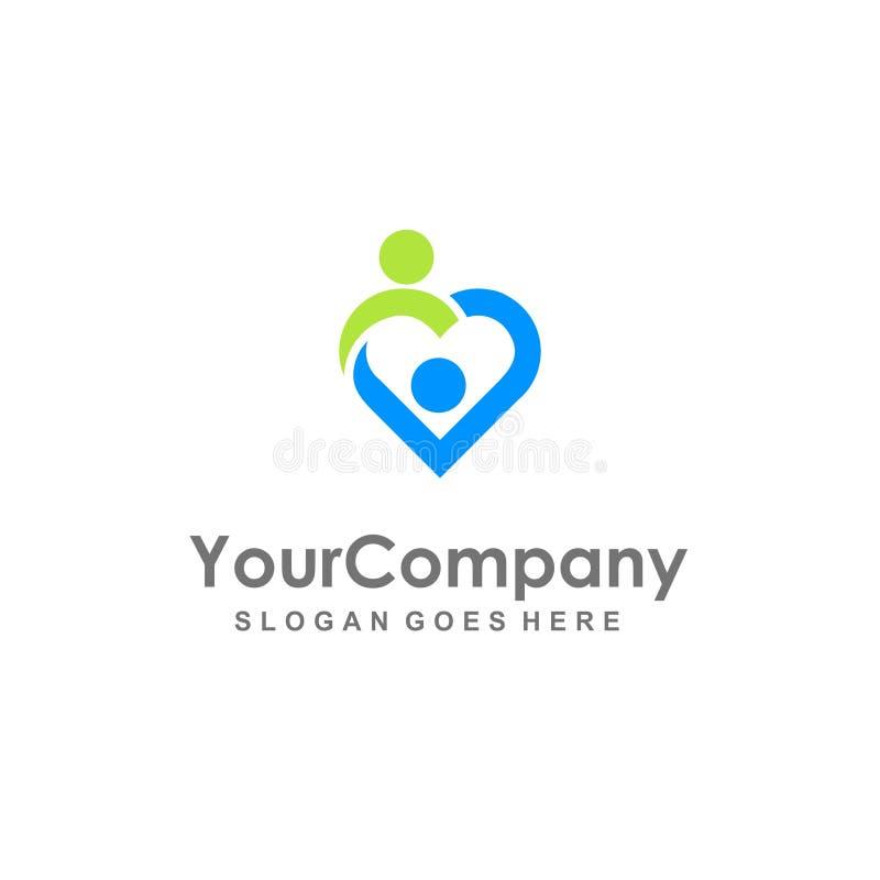 Ludzie podłączeniowej miłości ordynacyjnego logo zdjęcia stock