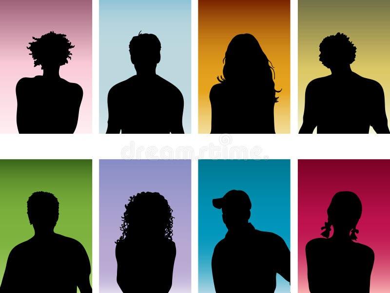 ludzie portretów ilustracja wektor