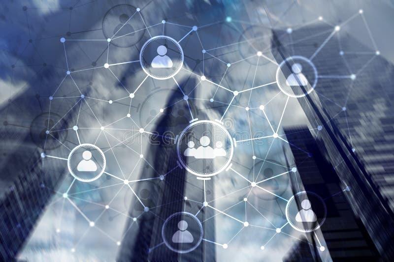 Ludzie powiązania i organizaci struktura wiązki komunikacyjne pojęcia rozmowy ma środki zaludniają socjalny Biznesu i technologii obrazy royalty free