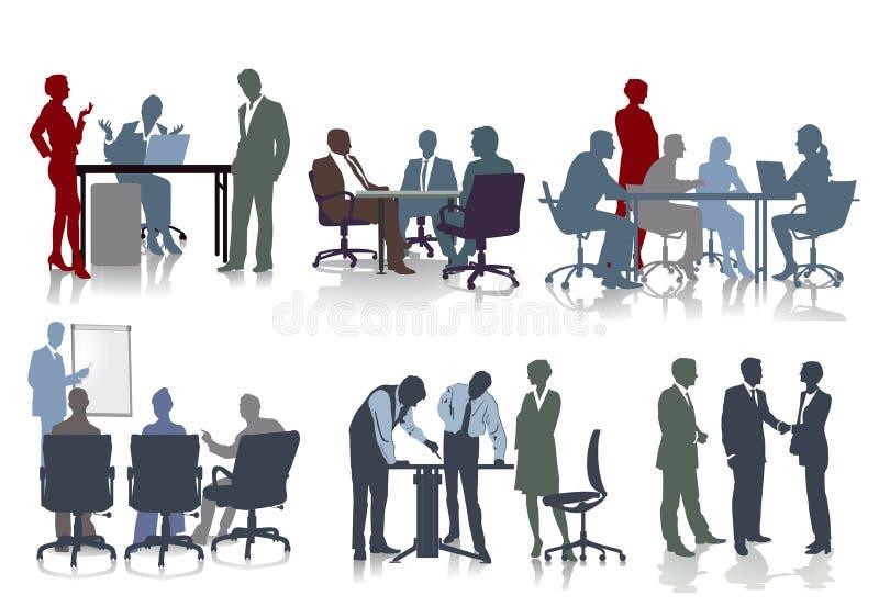 Ludzie pracuje w biurach royalty ilustracja