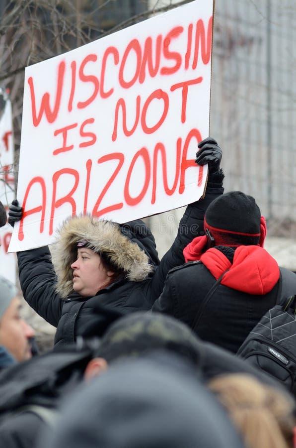 Ludzie protestuje przeciw Imigracyjnym prawom obraz stock
