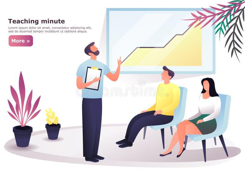 Ludzie przy konwersatorium lub konferencją trenuje, royalty ilustracja