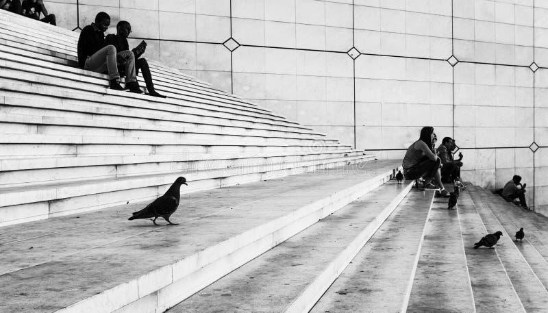 Ludzie przy los angeles obroną Paryż