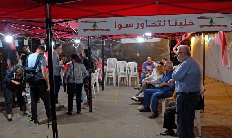 Ludzie rewolucji w nocy zdjęcia royalty free