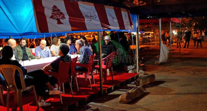 Ludzie rewolucji w nocy obraz royalty free