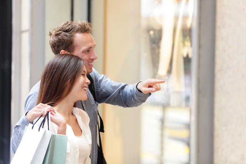 Ludzie robi zakupy w Hong Kong centrali obraz stock