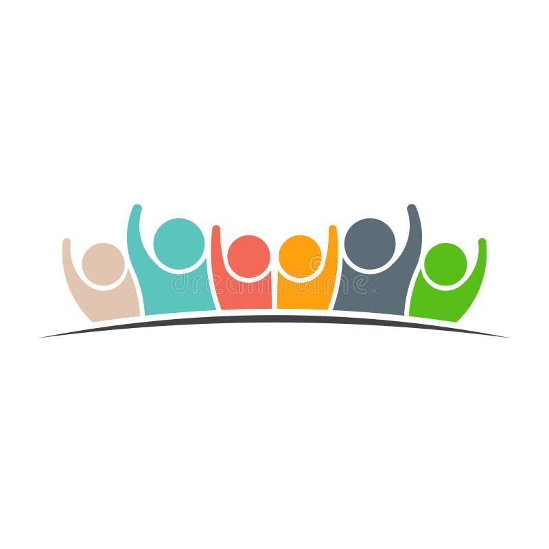 Ludzie rodziny sześć logów ilustracj ilustracji