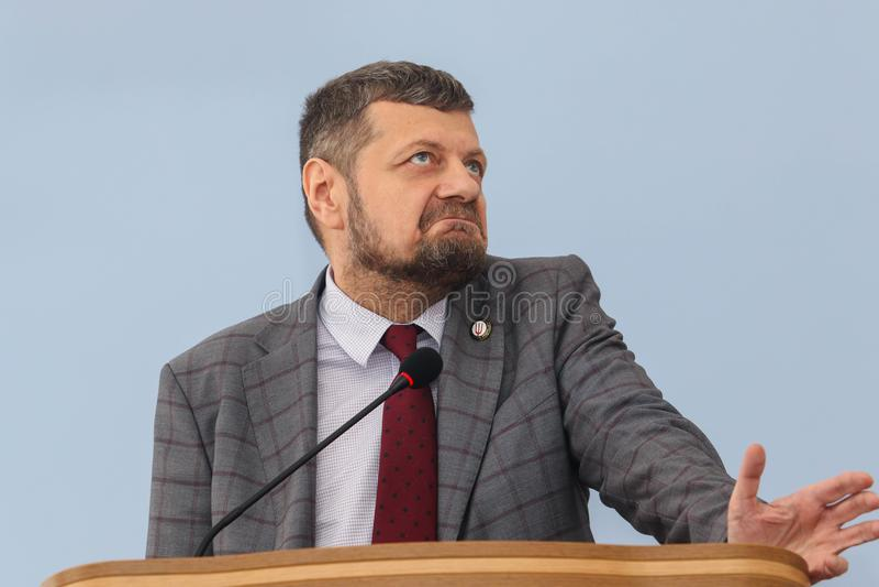 Ludzie ` s delegata Ukraina Ihor Mosiychuk fotografia stock