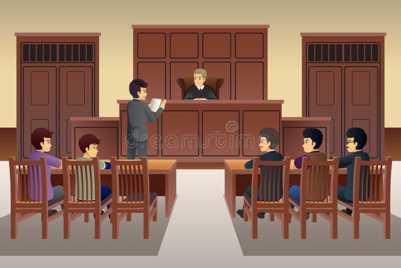 Ludzie sceny ilustracji w sądzie royalty ilustracja