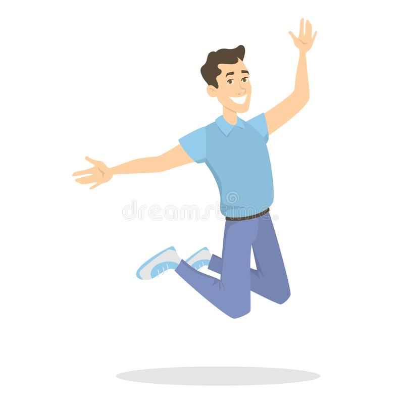 Ludzie skacze na bielu royalty ilustracja