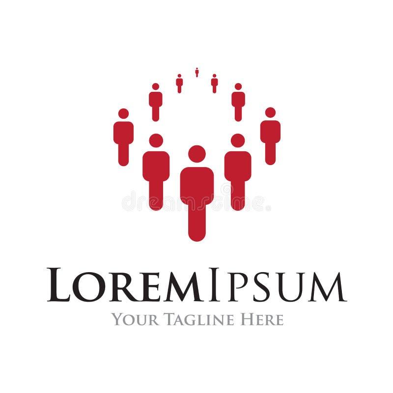 Ludzie stoi tworzący grupowego prostego biznesowego ikona loga royalty ilustracja