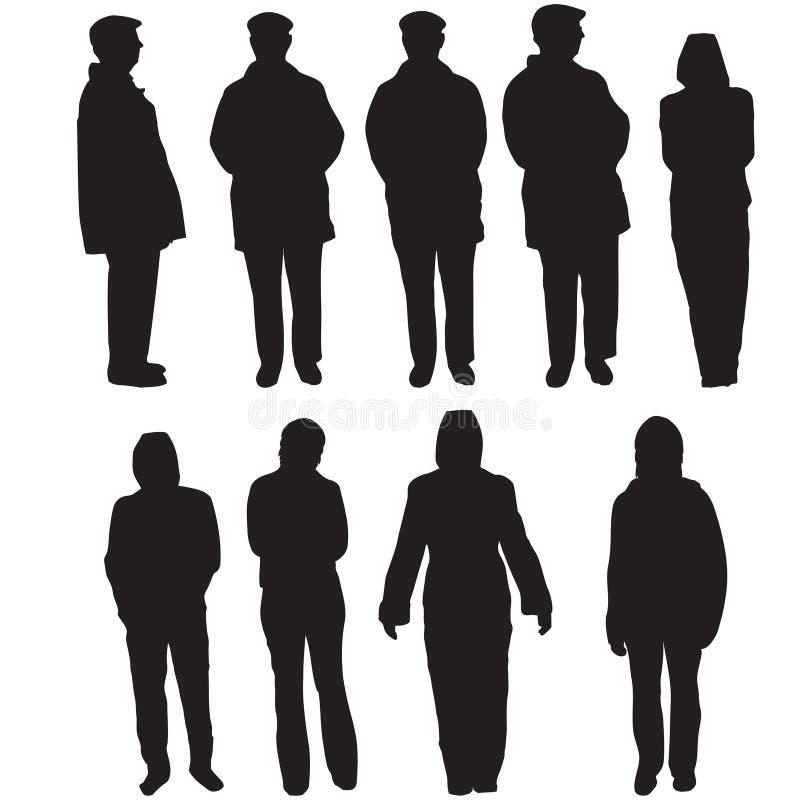 ludzie sylwetek ilustracji