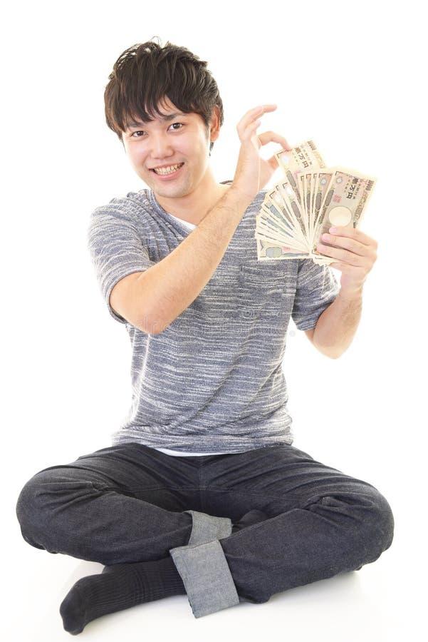 ludzie szczęśliwi pieniądze young fotografia royalty free