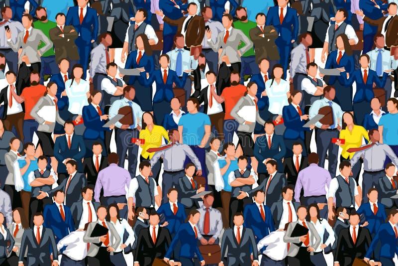 Ludzie tłumu 02 ilustracja wektor