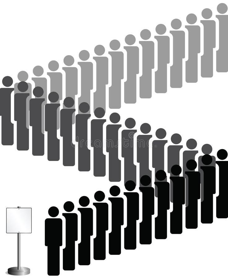 ludzie target116_0_ royalty ilustracja