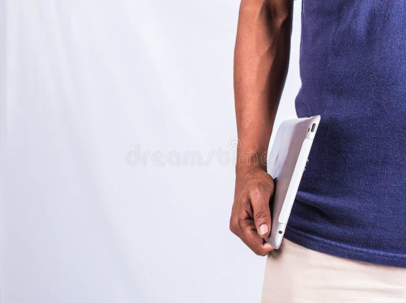 Ludzie trzyma pastylkę fotografia stock