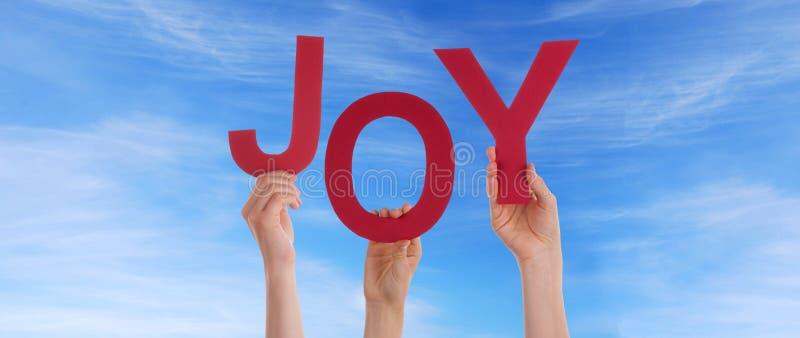 Ludzie Trzyma radość w niebie fotografia royalty free