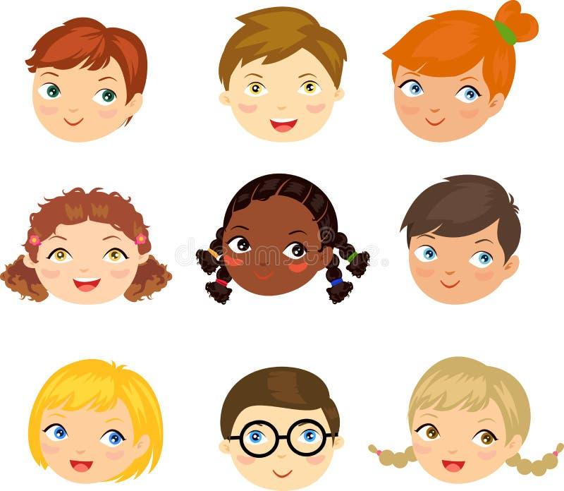 Ludzie twarz setu ilustracji