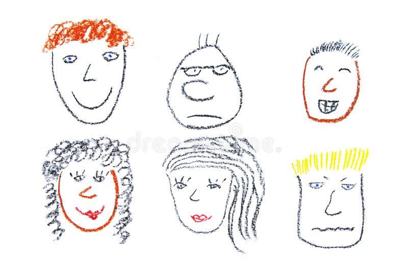 ludzie twarzy royalty ilustracja