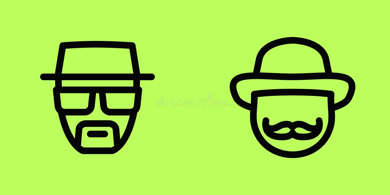 Ludzie twarzy wektorowych ikon odizolowywają zdjęcie royalty free