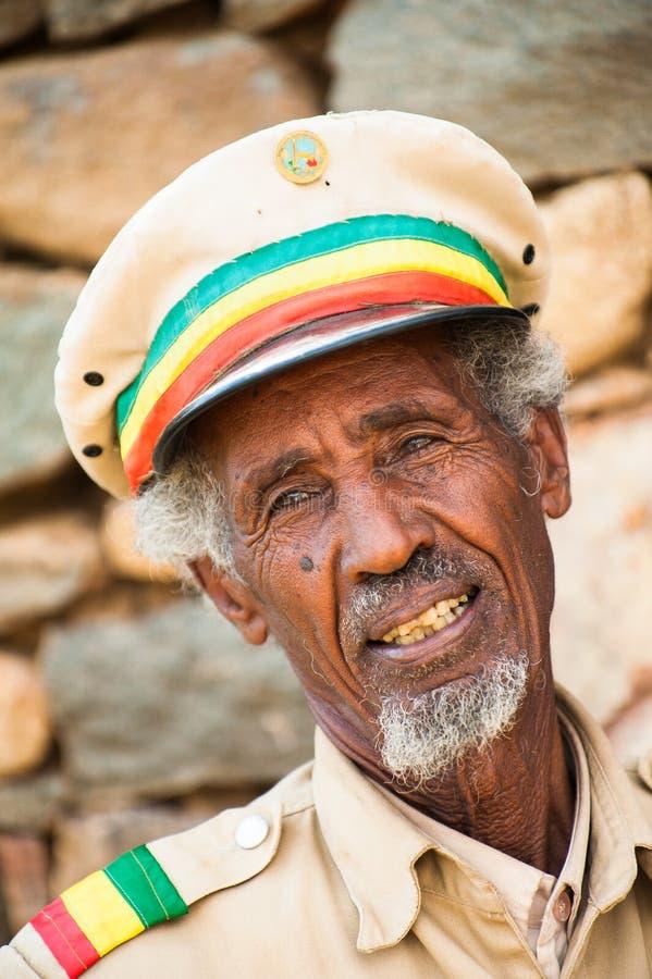 Ludzie w AKSUM, ETIOPIA obraz royalty free
