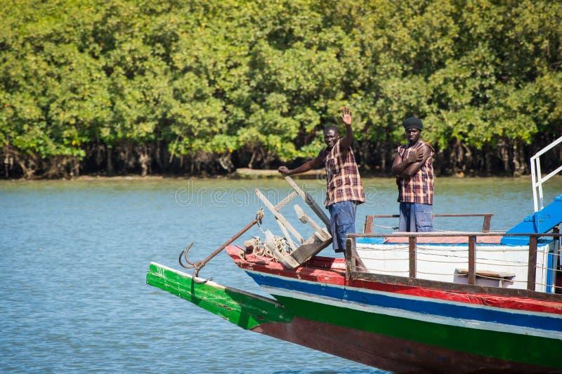 Ludzie w BANJUL, GAMBIA zdjęcia stock