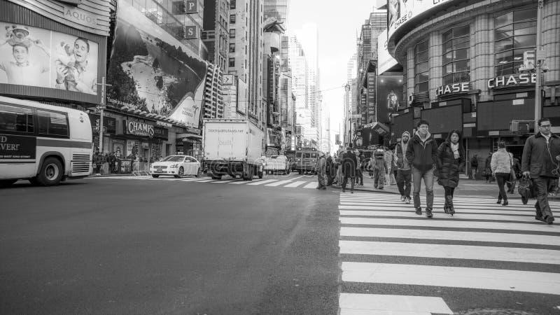 Ludzie w dużym mieście o Nowy Jork obraz stock