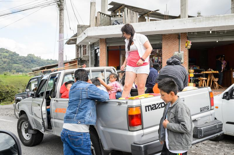 Ludzie w Ekwador obrazy stock