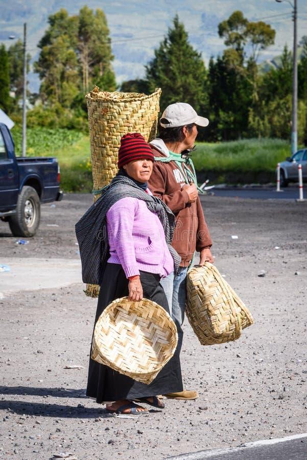 Ludzie w Ekwador obraz royalty free