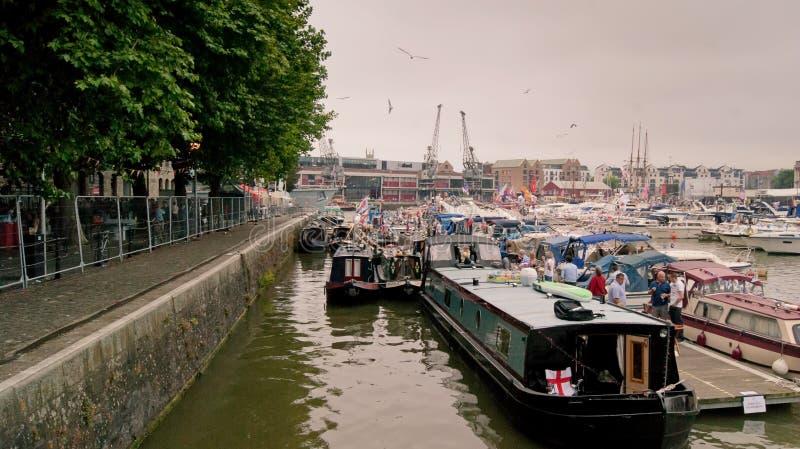 Ludzie w jachtu festiwalu fotografia royalty free