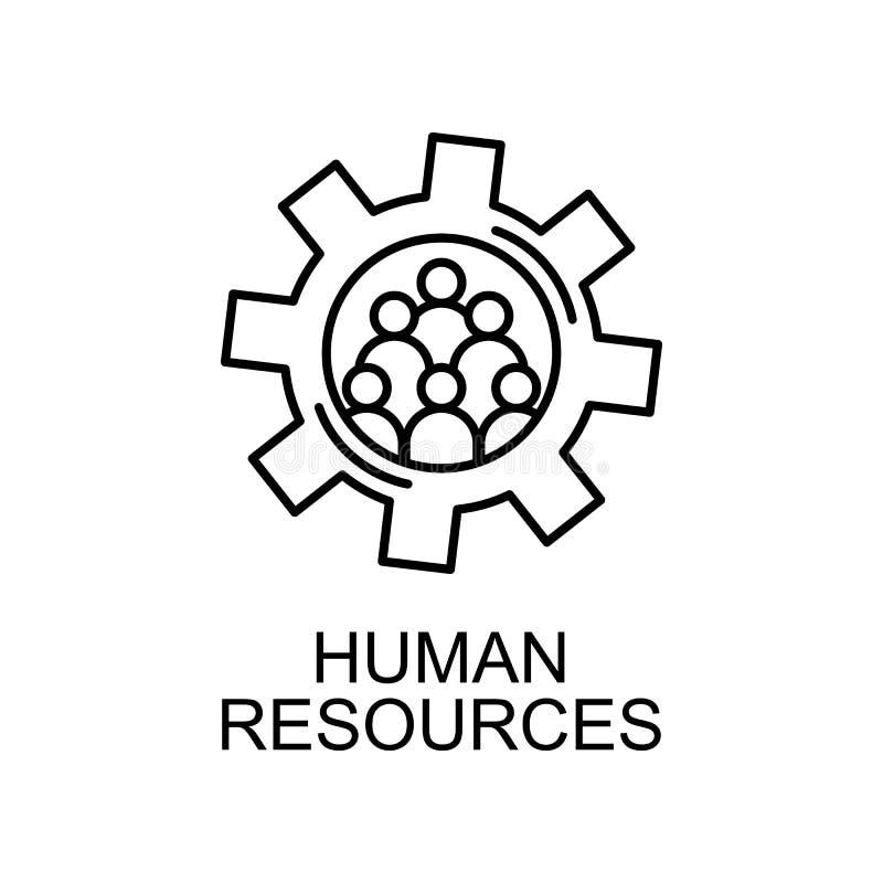 ludzie w mechanizm linii ikonie Element dział zasobów ludzkich ikona dla mobilnych pojęcia i sieci apps Ciency kreskowi ludzie w  ilustracja wektor