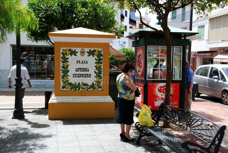Ludzie w rynku, Estepona obraz royalty free